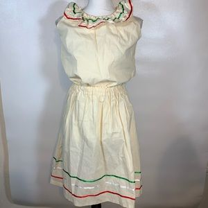 Traditional Mexican Top/ Skirt Set Womens Size 8